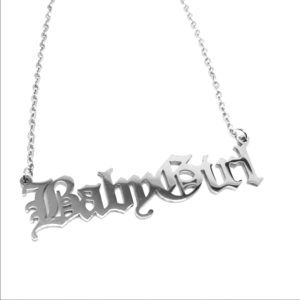 BabyGirl Old English Stainless Steel Necklace